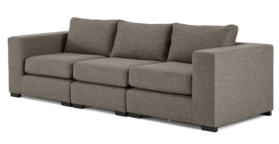 Mortimer 4 Seat Modular Sofa, Chalk Grey   Made With Regard To 4 Seat Sofas (Image 6 of 10)