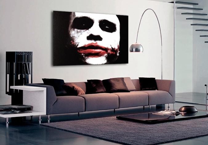 Movie Batman The Dark Knight Joker Canvas Art|Buy Movie Baman The Intended For Joker Canvas Wall Art (View 17 of 20)