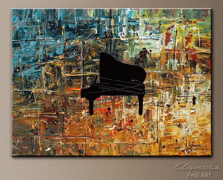 Music Art Piano Impromptu – Jazz Abstract Paintings For Sale With Abstract Piano Wall Art (Image 16 of 20)