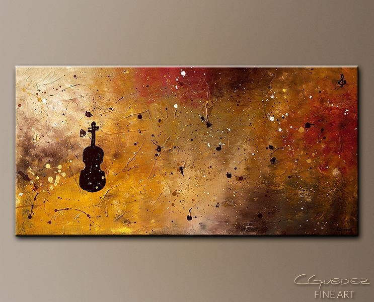 Music Art|Contemporary Abstract Art|Viola|Jazz|Guitar|Piano|Music Regarding Abstract Music Wall Art (Image 11 of 20)