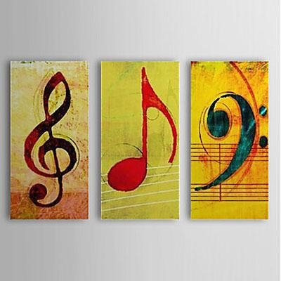 Music Note Music Oil Painting Wall Art Modern Canvas Art Wall For Music Canvas Wall Art (View 8 of 20)