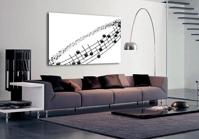 Musical Notes Throughout Abstract Music Wall Art (Image 14 of 20)