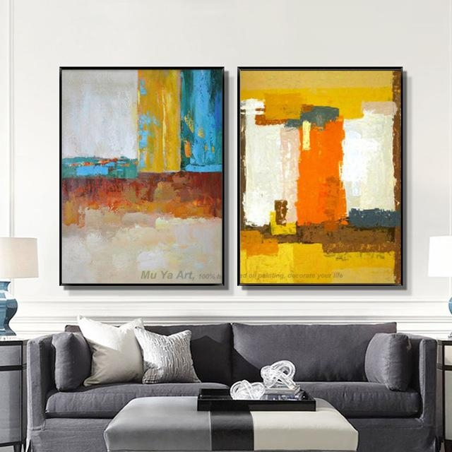 Muya Abstract Painting Large Canvas Wall Art Tableau Decoration With Regard To Large Canvas Wall Art (Image 13 of 20)