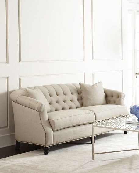 Naturelle Linen Tufted Sofa | Tufted Sofa And Linens With Regard To Tufted Linen Sofas (Image 7 of 10)