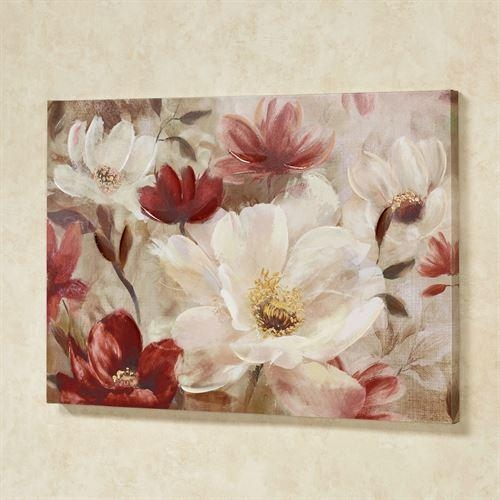 Natures Jewels Floral Canvas Wall Art With Canvas Wall Art Of Flowers (View 6 of 20)