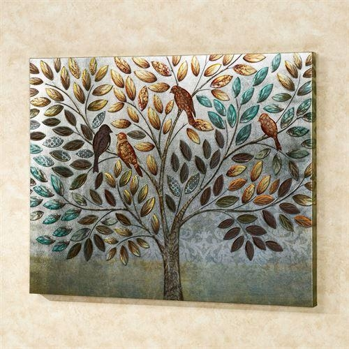 Natures Splendor Birds In Tree Canvas Wall Art With Birds Canvas Wall Art (Image 16 of 20)