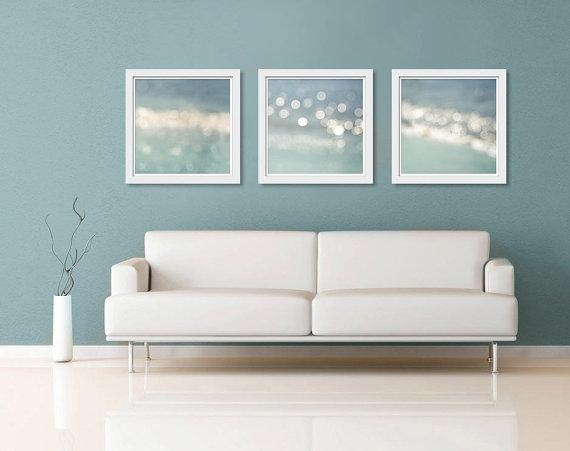 Nautical Decor Wall Art Print Set 16X16 Ocean Abstract Light For Abstract Nautical Wall Art (View 5 of 20)