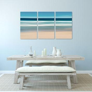 Nautical Wall Art, Canvas Triptych 3 From Katherine Gendreau With Abstract Nautical Wall Art (Image 13 of 20)