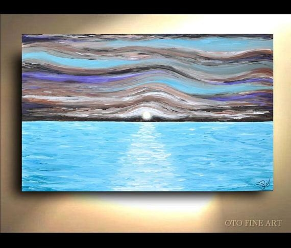 Nautical Wall Art Coastal Beach Decor Abstract Ocean Waves With Abstract Nautical Wall Art (Photo 20 of 20)