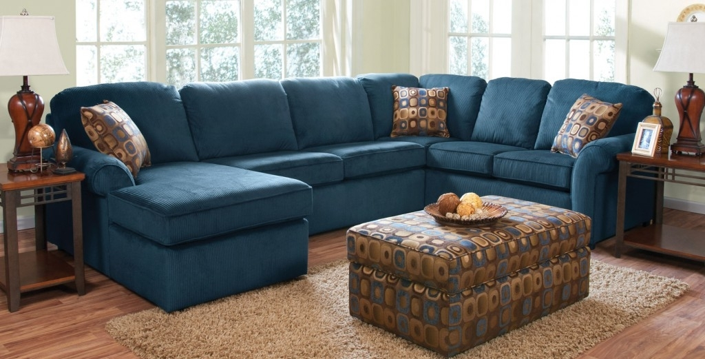Navy Blue Sectional Sofa For Sale — Radionigerialagos With Regard To Blue Sectional Sofas (Image 7 of 10)