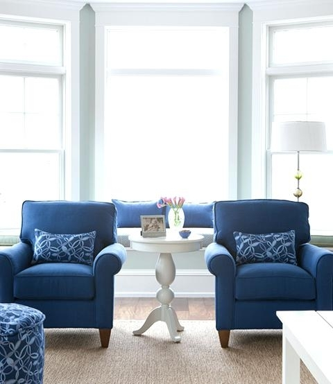 Navy Blue Sofa Chair Wall Color Is Blue Chairs Are The Same As My With Blue Sofa Chairs (Image 6 of 10)