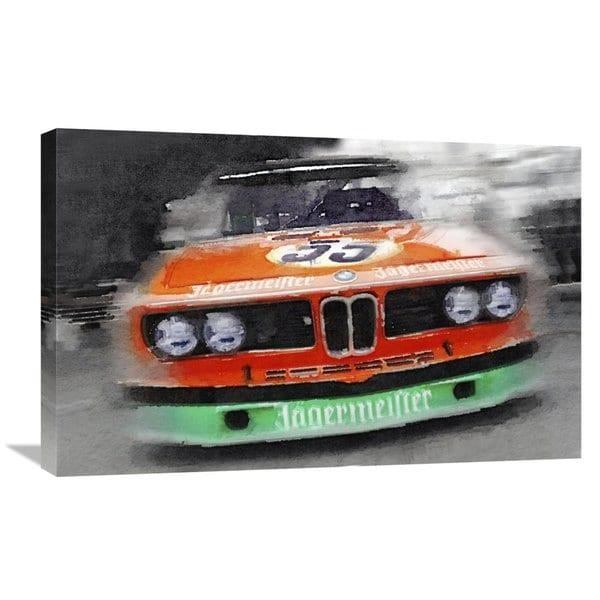 Naxart Studio 'bmw Front End Watercolor' Stretched Canvas Wall Art Inside Bmw Canvas Wall Art (Image 16 of 20)