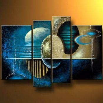 Neon World Modern Canvas Art Wall Decor Abstract Oil Painting Wall In Abstract Neon Wall Art (Photo 5 of 20)