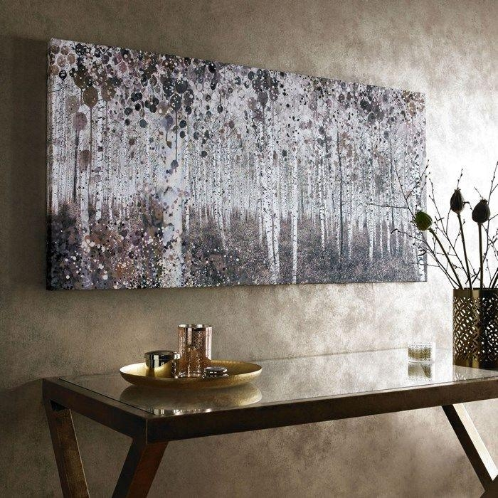 Neutral Watercolour Woods Printed Canvas Wall Artgraham And Pertaining To House Of Fraser Canvas Wall Art (Photo 1 of 20)
