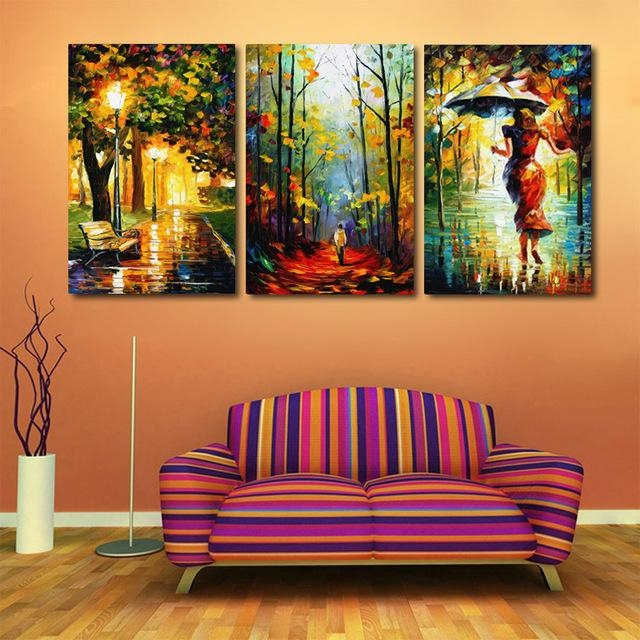 New Arrival Modular Modern Home Decor Canvas Art Abstract Oil In Abstract Oil Painting Wall Art (Image 13 of 20)