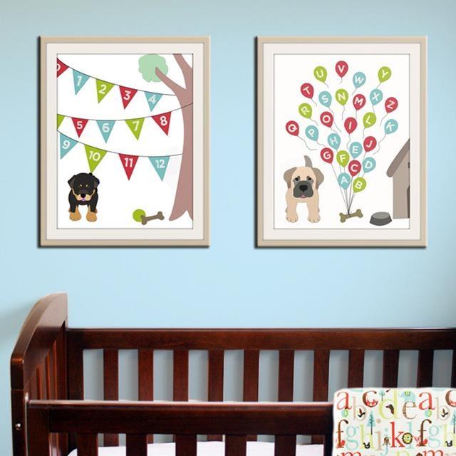 Featured Image of Modern Nursery Canvas Wall Art