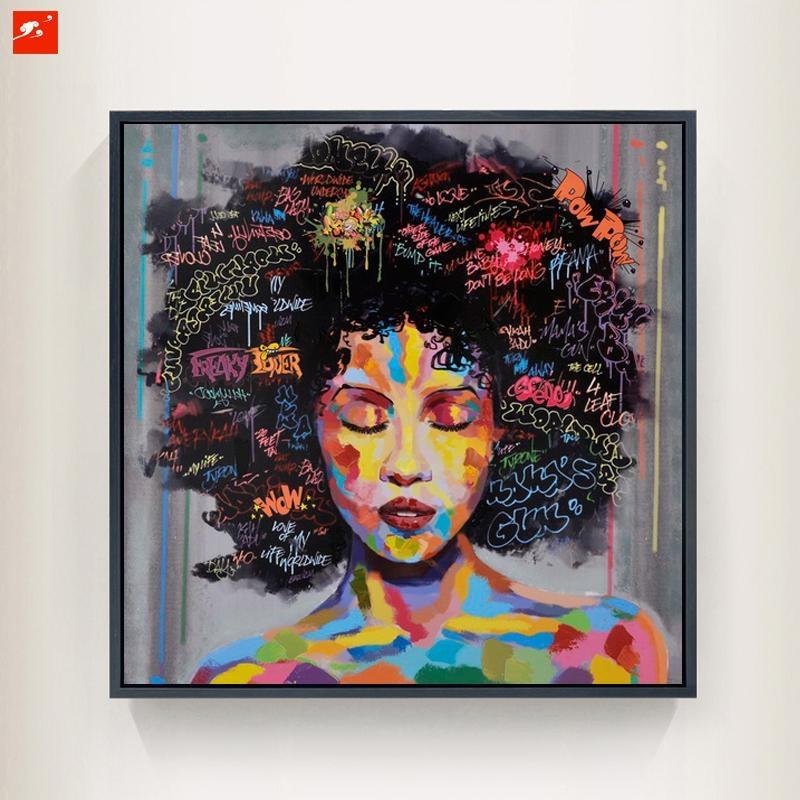 New Graffiti Street Wall Art Abstract Modern African Women Within Abstract Graffiti Wall Art (Photo 19 of 20)