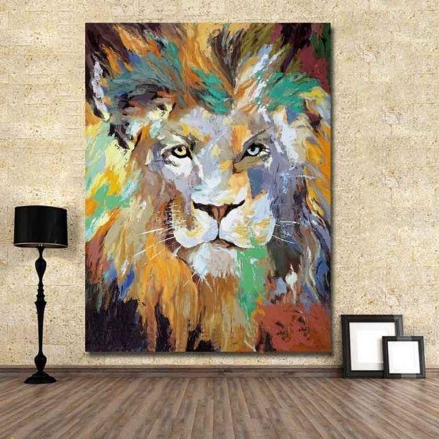 20 Best Collection Of Abstract Lion Wall Art