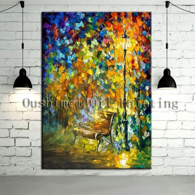 New Handmade Modern Mural Picture On Canvas Wall Art Knife For Murals Canvas Wall Art (Image 15 of 20)