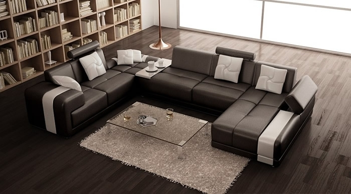 New Ideas U Shaped Sectional Sofa With Modern Contemporary U Shaped With Modern U Shaped Sectional Sofas (Image 7 of 10)