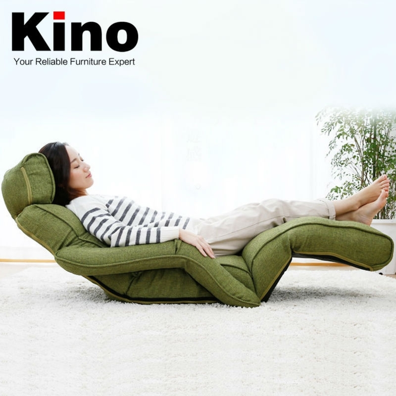 New Style Living Room Sofas Furniture,linen Fabric Folding Recliner Pertaining To Folding Sofa Chairs (Image 9 of 10)