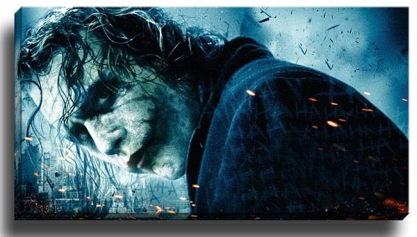 New The Joker Canvas Art / Wall Art / Large Framed Print | Ebay With Joker Canvas Wall Art (View 7 of 20)