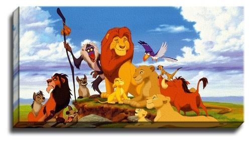 Featured Image of Lion King Canvas Wall Art