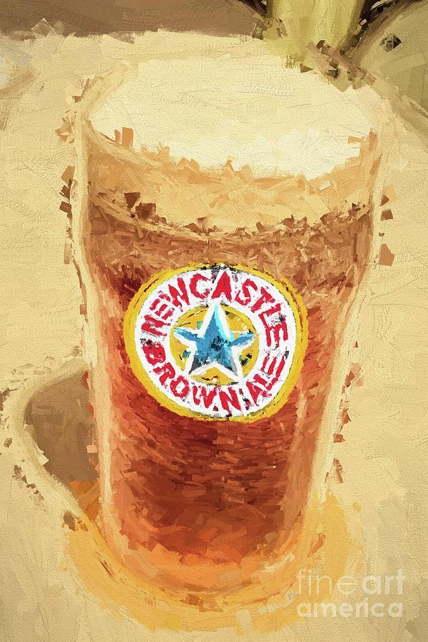 Newcastle Brown Ale Digital Artwork Photographjorgo With Newcastle Canvas Wall Art (Image 7 of 20)