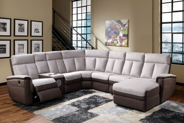 Newest Wholesale Living Room Electric / Manual Recliner Sofa With Pertaining To Sectional Sofas With Cup Holders (Image 7 of 10)
