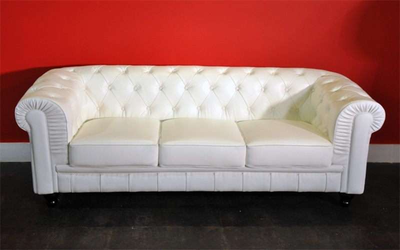 Nice Leather White Sofa Rich Look White Leather Sofa In White Leather Sofas (Image 8 of 10)