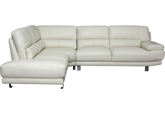 Nico Genuine Leather 3 Piece Sectional – Ivory , (Nico Sec) | The Within The Brick Leather Sofas (Image 8 of 10)