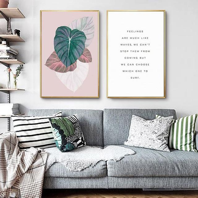 Nordic Decoration Abstract Leaf Posters And Prints Wall Art Canvas For Abstract Leaves Wall Art (Photo 16 of 20)