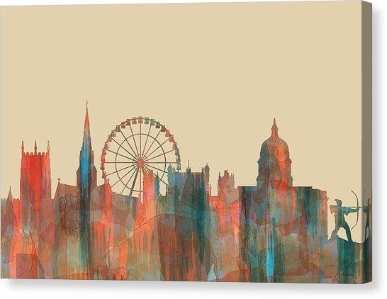Nottingham Silhouette Canvas Prints | Fine Art America Inside Nottingham Canvas Wall Art (View 9 of 20)