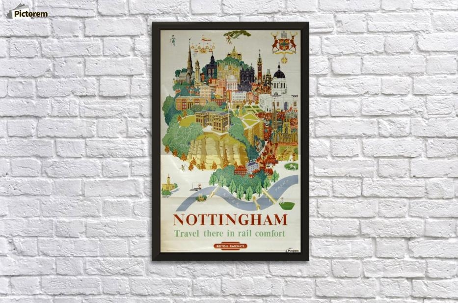 Nottingham Vintage Travel Poster For British Railways – Vintage In Nottingham Canvas Wall Art (View 11 of 20)