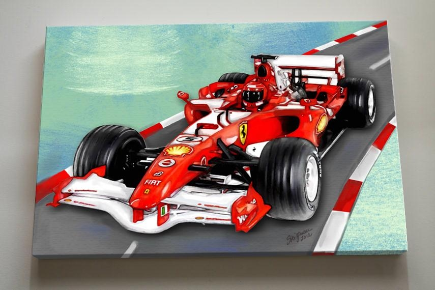 Nursery And Children's Muralsnursery And Children's Murals With Regard To Cars Theme Canvas Wall Art (Image 13 of 20)