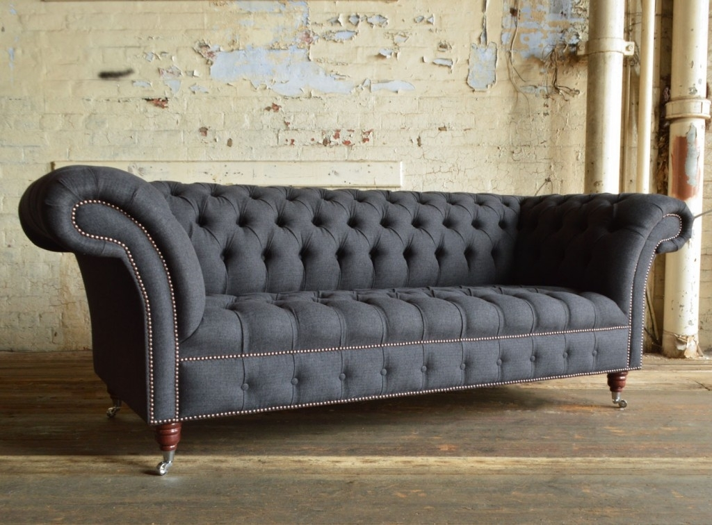 Nuvo Wool Chesterfield Sofa | Abode Sofas With Regard To Chesterfield Sofas (Image 8 of 10)