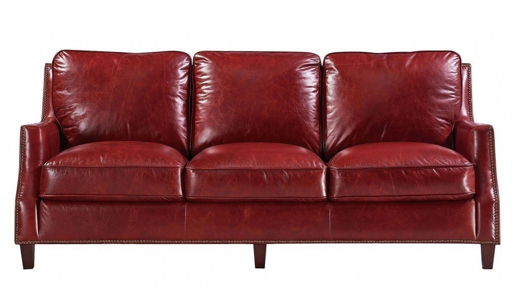 Oakridge Leather Sofa (Red) Leather Italia | Furniture Cart For Red Leather Sofas (View 9 of 10)