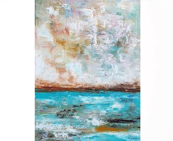 Ocean Art Oil Painting Ocean Painting Abstract Ocean Vertical With Abstract Ocean Wall Art (Image 13 of 20)