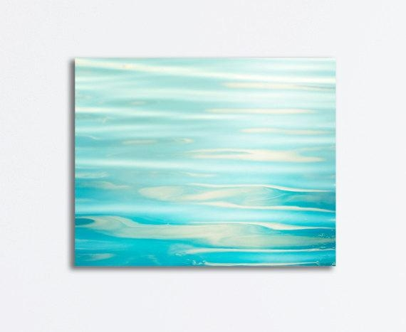 Ocean Canvas Wrap Sea Aqua Blue Water Ripples Abstract Regarding Abstract Ocean Wall Art (Image 14 of 20)
