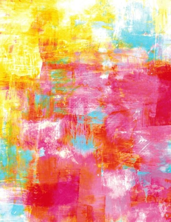 Off The Grid 2 Colorful Pink Pastel Neon Abstract Watercolor For Abstract Neon Wall Art (View 20 of 20)