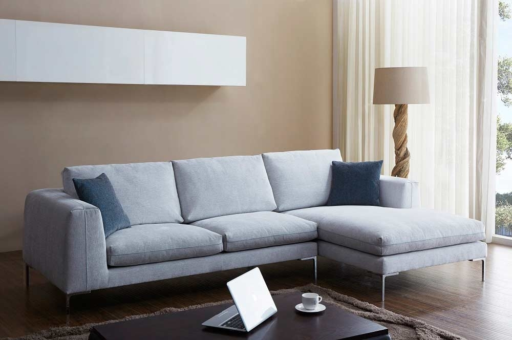 Off White Fabric Sectional Sofa Nj Blanca | Fabric Sectional Sofas Inside Nj Sectional Sofas (View 6 of 10)
