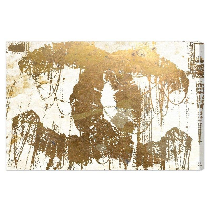 Oliver Gal The Eye Of Gold Canvas Wall Art | Hayneedle Within Gold Canvas Wall Art (Image 14 of 20)