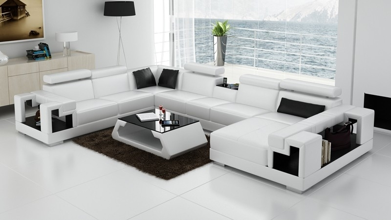 Olympian Sofas Novara White Leather Corner Sofa – Sectional Sofas With Regard To White Leather Corner Sofas (Image 8 of 10)