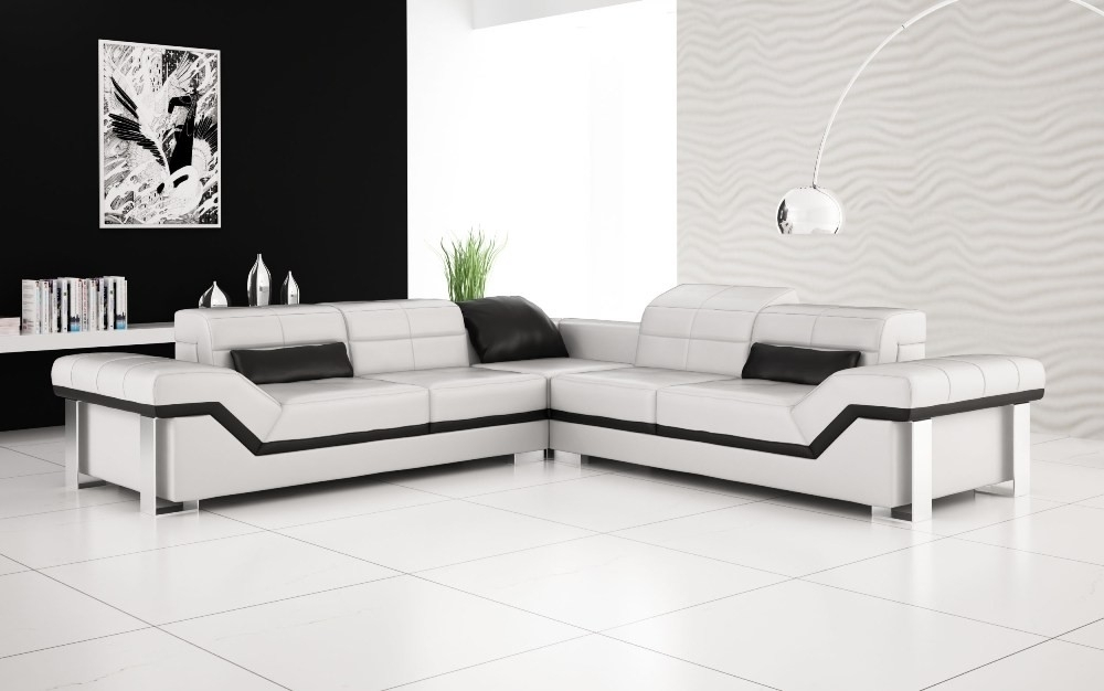 Olympian Sofas Rimini White Leather Sofa For White Leather Corner Sofas (Image 9 of 10)