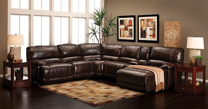 Olympus Leather Sectional Sofa Groupstratford | For The Home With Furniture Row Sectional Sofas (Image 7 of 10)