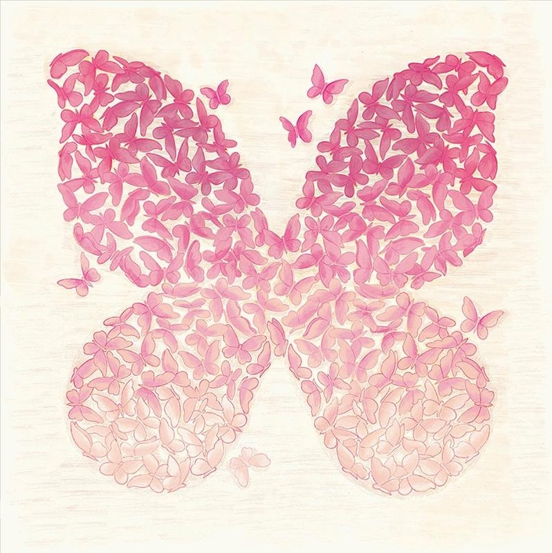 Ombre Butterfly Canvas Wall Art | Pattern / Ombre | Pinterest Within Butterflies Canvas Wall Art (View 2 of 20)