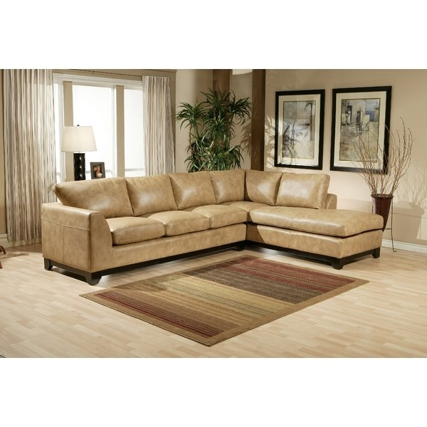 Omnia Leather City Sleek Leather Sectional & Reviews | Wayfair With Regard To Sleek Sectional Sofas (Image 6 of 10)