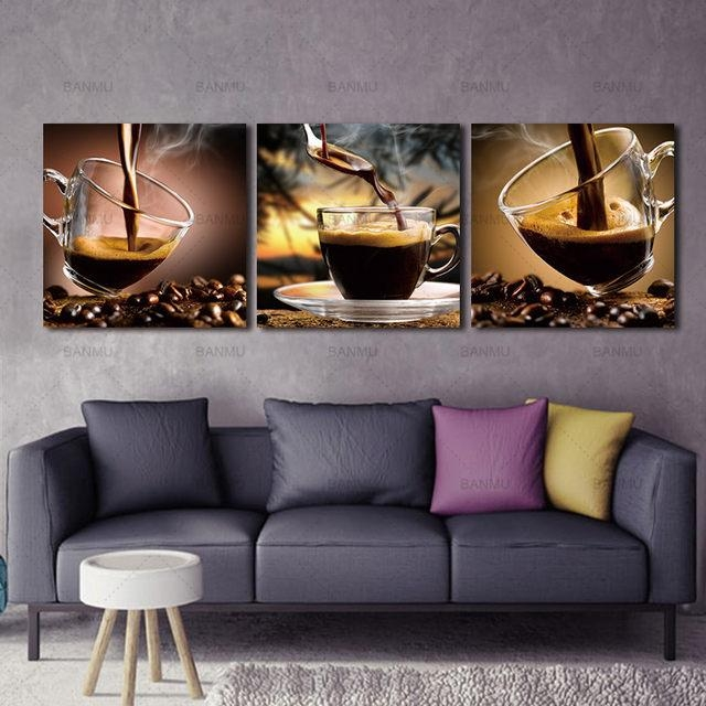 Online Shop Banmu Coffee Canvas Wall Art Painting Coffee Cup Within Coffee Canvas Wall Art (Image 15 of 20)