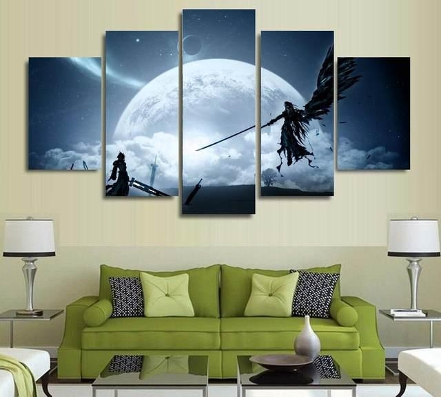 Online Shop Final Fantasy 7 Hot Japan Anime Wall Art Canvas Throughout Anime Canvas Wall Art (Image 18 of 20)