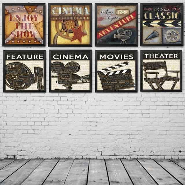 Online Shop Modern Paintings Movie Filming Acting Canvas Art Print With Regard To Movies Canvas Wall Art (Image 17 of 20)